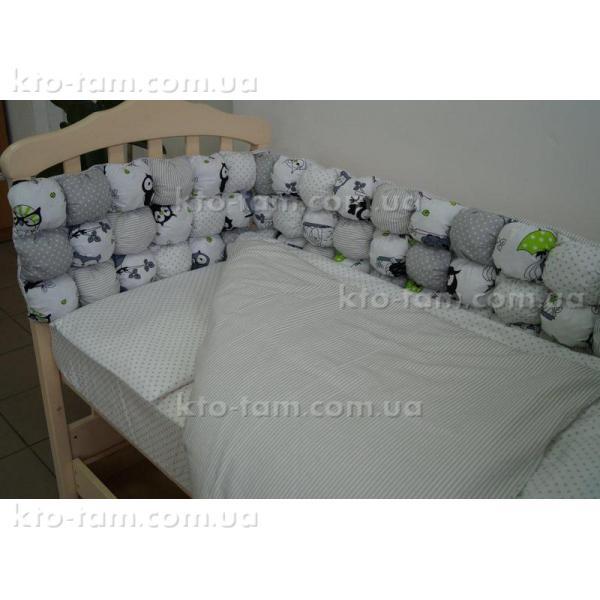 """Комплект постельного белья """"Joy """" серый горошек"""