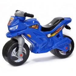Мотоцикл для катания синий, с сигналом