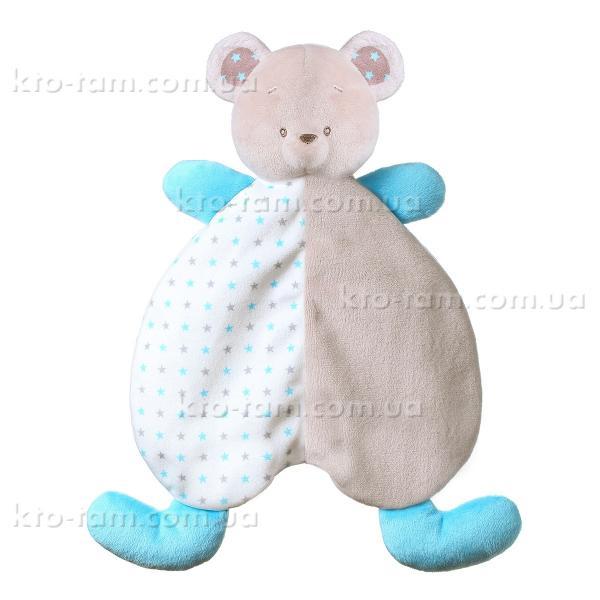 Игрушка- обнимашка одеяльце Мишка Тони, BabyOno