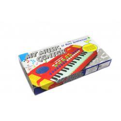 Музыкальный синтезатор на 32 клавиши, красный