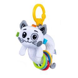 Игрушка-подвеска Веселая кошечка с прорезывателем , Balibazoo