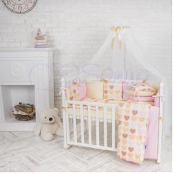 Комплект постельного белья Бэби дизайн Ванильные сердечки