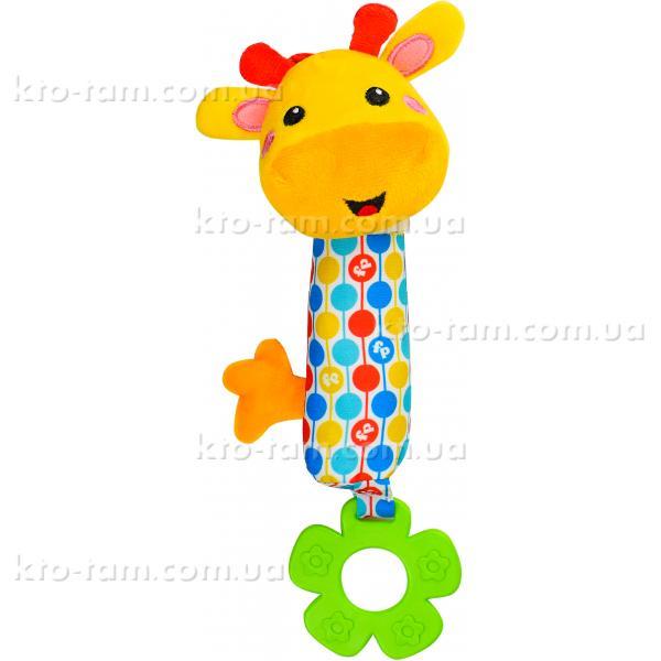 Погремушка мягкая «Жираф» с прорезывателемFisher price