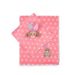 Одеяльце двухстороннее Minky - зайчик с первой обнимашкой, BabyOno