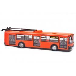 Троллейбус Автопарк свет, звук, открываются двери, оранжевый