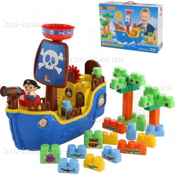 """Набор """"Пиратский корабль"""" + конструктор (30 элементов) (в коробке) Полесье"""
