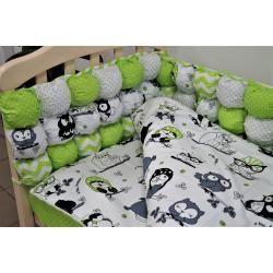 Комплект постельного белья «Joy» бомбон комбинированный (6 ед.), зеленый