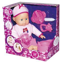Пупс с аксессуарами, в розовой одежде, Little You