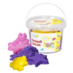 Умный песок 0,5 кг , Genio Kids, фиолетовый