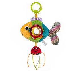 Игрушка-подвеска Золотая рыбка с погремушкой , Balibazoo