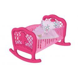 Кроватка для куклы ТехноК,розовая