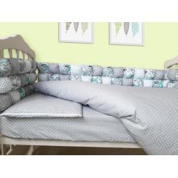 """Комплект постельного белья Бомбон (6 ед.), """"Мятные коты"""""""