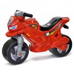 Мотоцикл для катания красный, с сигналом