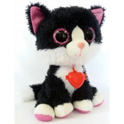 Глазастик Черный кот с сердечком , Fancy