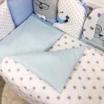 """Комплект постільної білизни Chudiki standart блакитний """"Маленька Соня"""""""