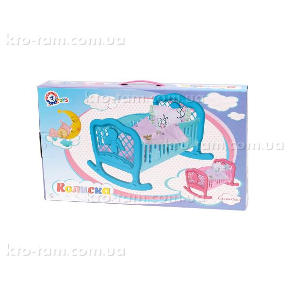Кроватка для куклы ТехноК, голубая