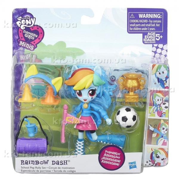 Мини-кукла Equestria Girls с аксессуарами , Rainbow Dash оригинал