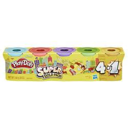 Супер набор из 4 баночек + 1 золотая Play-Doh , Hasbro