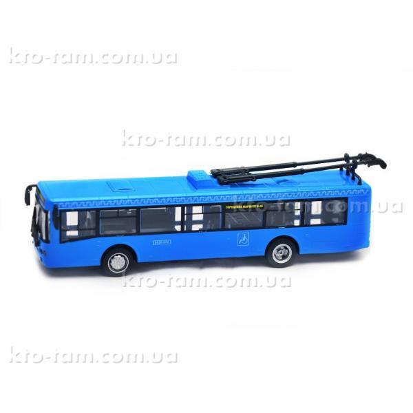 Троллейбус металлический инерционный Автопарк, синий
