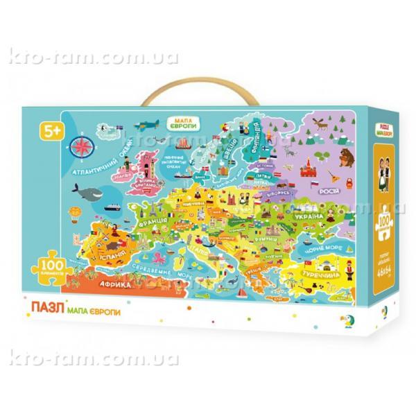 Пазлы Карта Европы, DoDo
