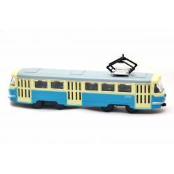 Трамвай металлический инерционный Автопарк, синий