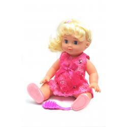 Кукла Изабелла, 35 см в малиновом платье