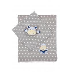 Одеяльце двухстороннее Minky - бегимотик с первой обнимашкой, BabyOno