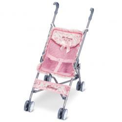 Коляска-тросточка для кукол розовая, DeCuevas
