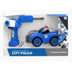 """Конструктор на шурупах """"Поліцейська машина"""" , Qunxing Toys"""