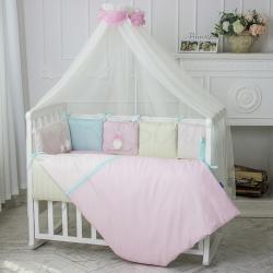 Комплект постельного белья Зайчики розовый