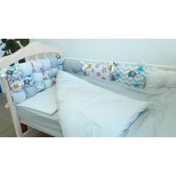 Комплект постельного белья «Joy» комбинированный (6 ед.), серый