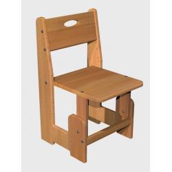 Детский деревянный стульчик, бук цельноламельный, ДомовичОК