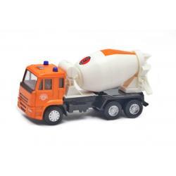 Машинка Бетономешалка Автопарк , Play smart, оранжевая