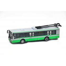 Троллейбус металлический инерционный Автопарк, зеленый