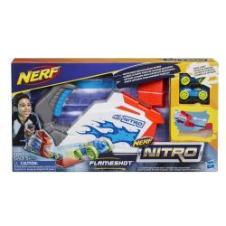 "Бластер Пусковой набор с машинками ""Флэймшот"" Nerf Nitro , Hasbro"