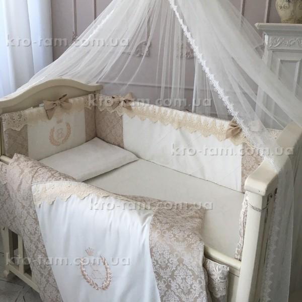 """Комплект постельного белья De Lux бежевый, """"Маленькая Соня"""""""