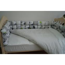 Комплект постельного белья «Joy» бомбон комбинированный (6 ед.), серый