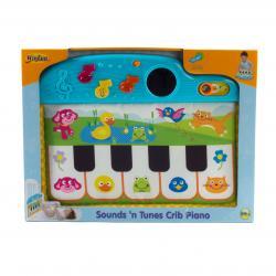 Пианино для кроватки со звуками и мелодиями, WinFun