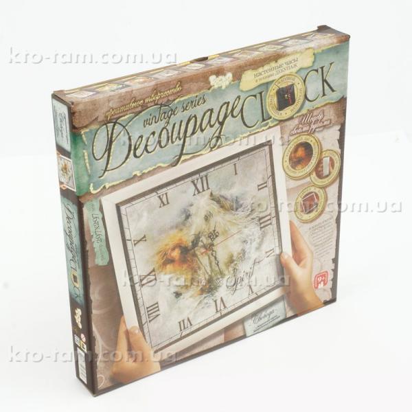 Набор для творчества Часы в технике декупаж, Decoupage Clock, Danko Toys