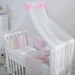 """Комплект постельного белья Shine розовый зигзаг ,""""Маленькая Соня"""""""