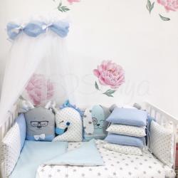 Комплект постельного белья Chudiki standart голубой