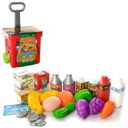 Игровой набор «Тележка для покупок с продуктами», Qunxing Toys