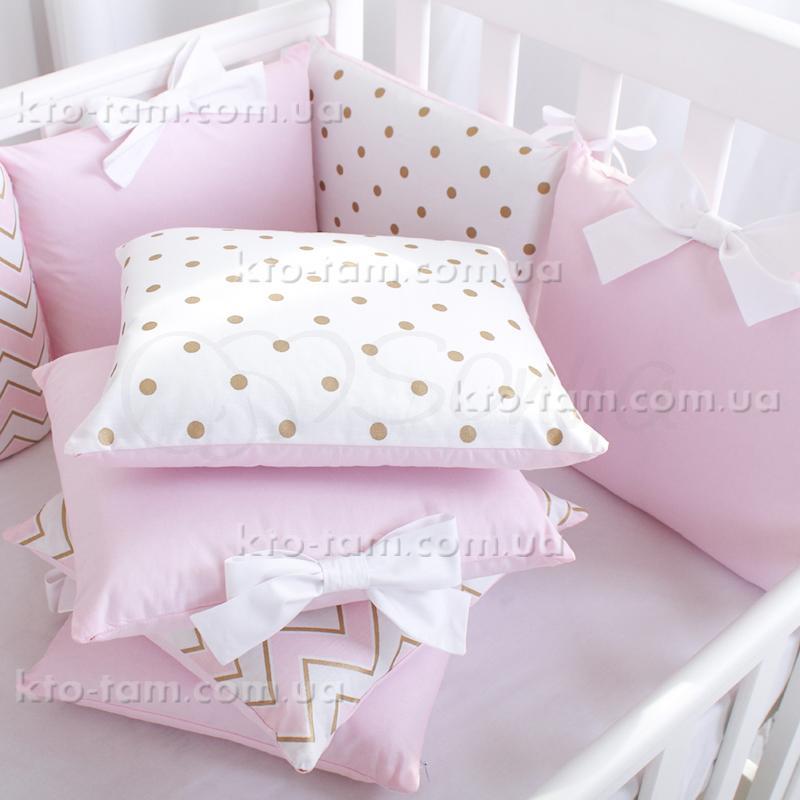 ... Комплект постільної білизни Shine рожевий зігзаг