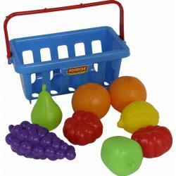 Игровой набор продуктов с корзиной №2 (9 элементов) (в сеточке) Полесье