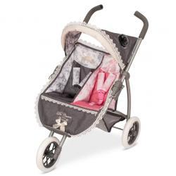 Прогулочная двухместная коляска для кукол Reborn, DeCuevas