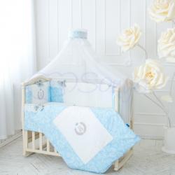 Комплект постельного белья De Lux голубой