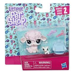 Игровой набор Два пета, Petula Woolwright & Jersey Cowlick, Littlest Pet Shop Hasbro