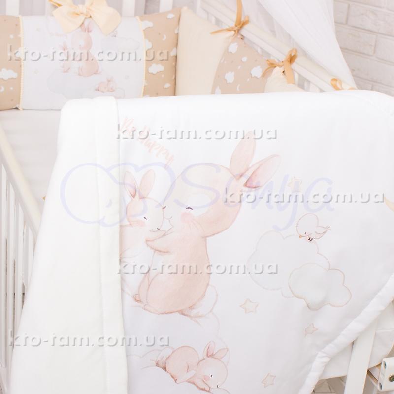 ... Дитячий плед Akvarel Бежеві Зайчики 2021c3d435a89