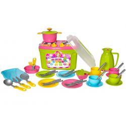 Набор игрушечной посуды с плитой , №9 Технок