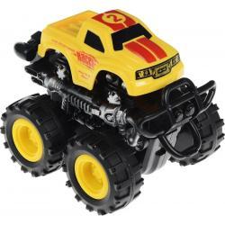 Инерционная машинка 4 WD, Big Motors, желтая